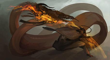 Fire creature by Shagan-fury