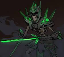 Undead glass warrior by Shagan-fury