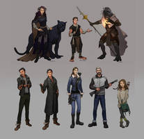 Character designs by Shagan-fury
