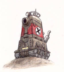 Metal Slug tall tank by shadowspark