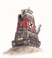 Metal Slug tall tank by shadowspark