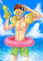 sergiovisual spongebob summer by sergiovisual