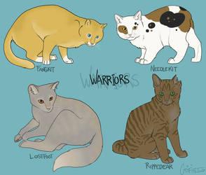 Four Warriors by daggerstale