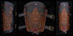 Viking Bracer Oden by Wodenswolf