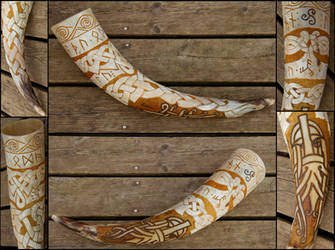 Nordisk Kult Drinking Horn by Wodenswolf