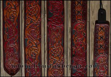 Guitar Strap Ragnarokkr Details by Wodenswolf