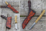 Nordic Custom Knife with sheath by Wodenswolf