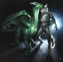 Em and Hunter by Khyaber