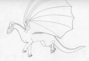Flying Reillo Dragon by Draikeena