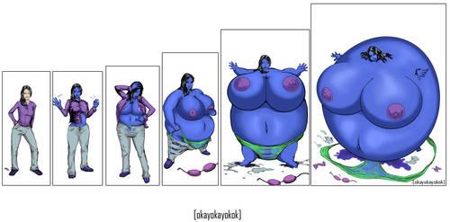 Blueberry girl sequence by okayokayokok