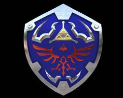 Zelda Hyrule Shield by iAkumu