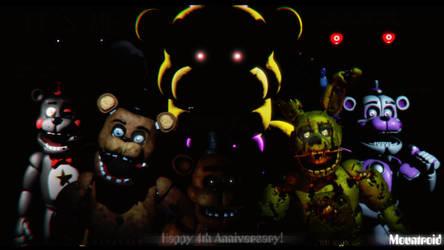 [SFM] Five Nights at Freddy's - 4 Year Anniversary by GreenRou