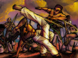 Capoeira Fun Colored 2 by anthonybaiz