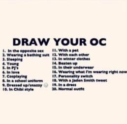 Draw Your Oc Meme Closed By Smashartist728 On Deviantart
