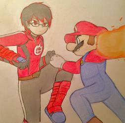 Mii Vs. Mario by SmashArtist728