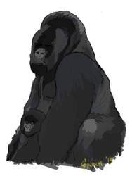 Gorilla Dad by GKoch