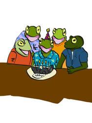 Frog birthday by GKoch