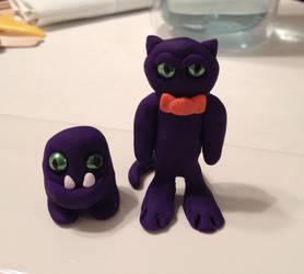 Purple creatures by GKoch