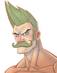 Glitter Stache by MustacheMayhem