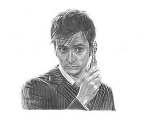 The Tenth Doctor by girlinterruptedbyart