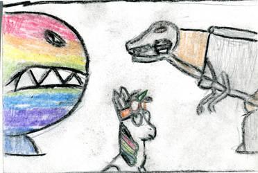 Twink vs Grimlock by MLP-HeadStrong