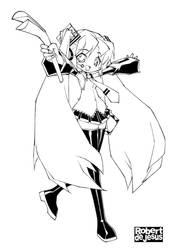 Hatsune Miku Line Art by Banzchan