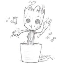 Dancing Groot by Banzchan