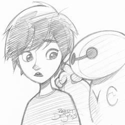 Big Hero 6 Sketch by Banzchan
