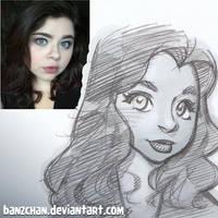 Rikarae Sketch by Banzchan