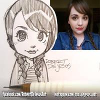 Chibi Suzanne Pencil Sketch by Banzchan