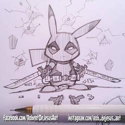 Deadpool Pikachu by Banzchan