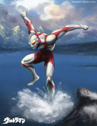 Ultraman by RobertDamnation