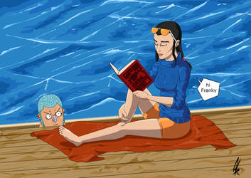 Robin reading by Alex-NascimentoR