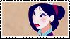 Disney Stamp - Mulan 007 by hanakt