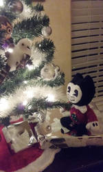 Bendy And The Christmas tree 1 by ladyckk