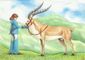 Nausicaa and Yakul by GalopaWXY