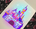Traditional digital castle thing by kellieabomination