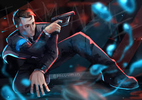 {detroit become human} connor [SPEEDPAINT] by Paluumin