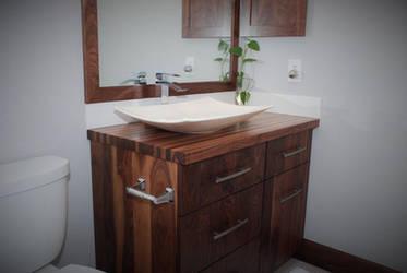 All-Walnut Bathroom Vanity by belakwood