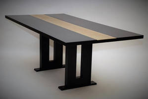 Black Maple Dining Table by belakwood