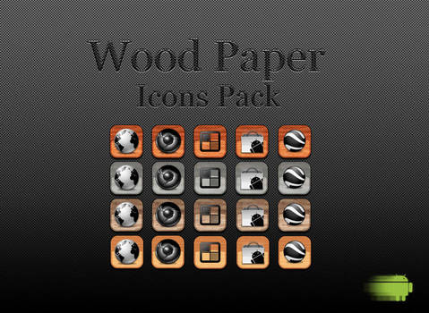 Wood Paper Icons Pack for your Android Phone by WCatD