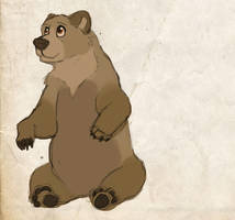 Bear sketch by WoolNoon