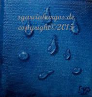 Tropfen auf blau by sgarciaburgos