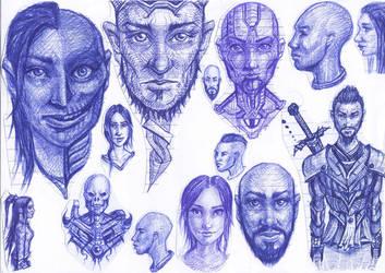 Random Faces 2 by MaJr12