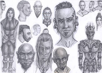 Random Faces 6 by MaJr12