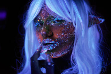 Uv Makeup Blacklight Photography Fantasy Fairy by Keizie