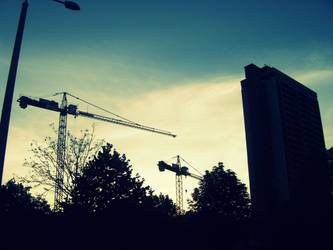 Giant cranes by Girl-With-Red-Socks