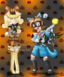 Pumpkins and Pokeballs by RainbowFilled