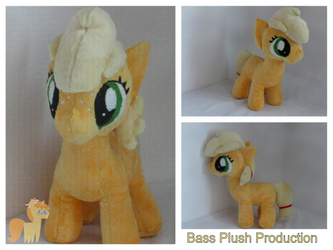 Applejack Filly Plushie by BassPlushProductions