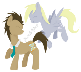 Dr Whooves and Derpy by Jonah-yeoj